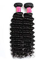 cheap -Unprocessed Peruvian Natural Color Hair Weaves Deep Wave Hair Extensions 2pcs Black