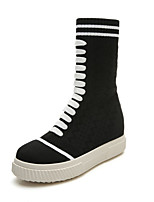 Women's Shoes Microfibre Winter Comfort Boots Mid-Calf Boots For Casual Black