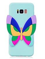 Etui Til Samsung Galaxy S8 Plus S8 Mønster GDS Bagcover Sommerfugl 3D-tegneseriefigur Blødt TPU for S8 S8 Plus S7 edge S7 S6 edge S6