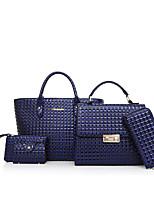 Women Bags All Seasons PU Bag Set Pattern / Print for Casual Office & Career Blue Black Red Gray Brown