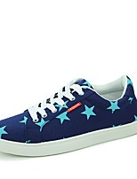 Men's Shoes PU Spring Fall Light Soles Sneakers Lace-up For Casual Blue White