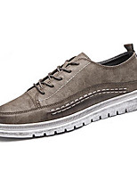 Herren Schuhe Künstliche Mikrofaser Polyurethan Frühling Herbst Komfort Sneakers Für Normal Schwarz Grau Khaki
