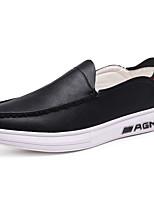 Для мужчин обувь Наппа Leather Весна Осень Удобная обувь Мокасины и Свитер Назначение Белый Черный Синий