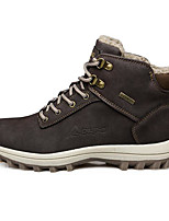 Men's Shoes Cowhide Spring Fall Light Soles Sneakers For Casual Dark Brown Black