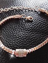 Femme Bracelet Zircon Strass Elégant Zircon Strass Formé Carrée Bijoux Pour Mariage Quotidien