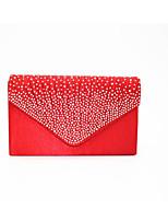 Damen Taschen Ganzjährig Seide Unterarmtasche Reißverschluss für Normal Weiß Schwarz Rote