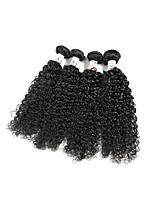 Unprocessed Brazilian Bundle Hair Curly Hair Extensions 4 Pieces Black