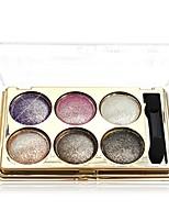 6 Paleta de Sombras Brilho Mineral Paleta da sombra Maquiagem para o Dia A Dia Maquiagem para Dias das Bruxas Maquiagem de Festa