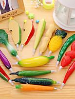 1 unids frutas bolígrafos de plástico creativo verduras bolígrafo para niños regalo ramdon color
