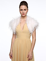 Feathers Wedding Party/ Evening Women's Wrap With Feather Elegant Style