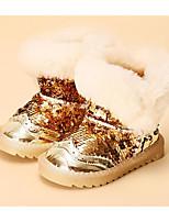 Fille Chaussures Similicuir Automne Hiver Confort Bottes de neige Bottes Pour Décontracté Or Noir Rose