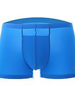 Men's Sexy Solid Shorties & Boyshorts Panties Ultra Sexy Panties Boxers Underwear,Silk Nylon