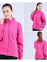 Men's Women's Hiking Fleece Jacket Outdoor Winter Keep Warm Fleece Winter Fleece Jacket Full Length Visible Zipper Running/Jogging