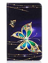 carteira de cartão de padrão de borboleta com suporte flip caso de couro magnético PU para Samsung Galaxy Tab e 8.0 t377 t377v tablet de