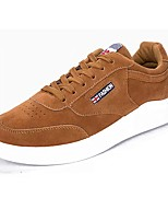 Men's Shoes Nubuck leather PU Suede Winter Comfort Sneakers Lace-up For Casual Brown Gray Black White