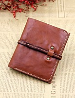 Men Bags All Seasons Cowhide Wallet Zipper for Casual Black Brown