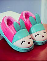 Girls' Shoes PU Winter Comfort Flats For Casual Blushing Pink Blue Green