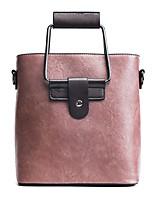 Donna Sacchetti Per tutte le stagioni PU (Poliuretano) Tote Cerniera per Shopping Casual Nero Rosa Marrone Verde militare