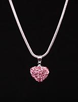 Жен. Ожерелья с подвесками В форме сердца Стразы Сплав Бижутерия Назначение День рождения