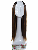 Donna Lungo Kinky liscia Marrone chiaro Parrucca di celebrità Parrucca di Halloween Parrucca di carnevale Parrucca Cosplay Parrucca
