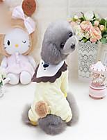 Chien Sweatshirt Vêtements pour Chien nouveau Dessin-Animé Jaune Rose Costume Pour les animaux domestiques