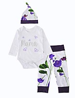 Baby Girls Indoor Birthday Outdoor Daily Flower Clothing Set