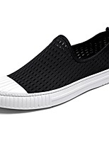 Men's Shoes Fabric Spring Fall Comfort Loafers & Slip-Ons For Casual Black White