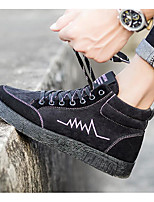 Men's Shoes Canvas Spring Fall Light Soles Sneakers For Casual Gray Dark Blue Black
