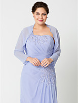 cheap -Long Sleeves Chiffon Wedding Party / Evening Women's Wrap With Beading Shrugs