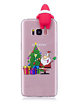 Case For Samsung Galaxy S8 Plus S8 Pattern DIY Back Cover Christmas 3D Cartoon Soft TPU for S8 Plus S8 S7 edge S7