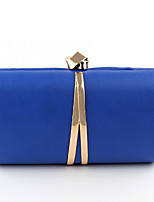 Women Bags All Seasons PU Evening Bag Split Front for Wedding Event/Party Blue