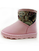 Girls' Shoes Nubuck leather Fall Winter Fluff Lining Comfort Novelty Snow Boots Boots Booties/Ankle Boots Split Joint For Wedding Dress