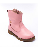 Girls' Shoes Cowhide Fall Winter Comfort Fashion Boots Boots For Casual Blushing Pink Brown