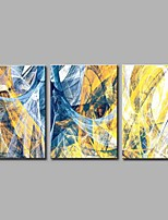 Hand-Painted Abstract Horizontal Panoramic,Simple Modern Three Panels Canvas Oil Painting For Home Decoration