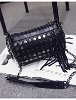 Women Bags All Seasons PU Shoulder Bag Zipper for Casual Black