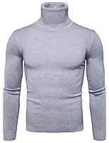 cheap -Men's Simple Casual Long Sleeves Pullover - Solid Colored Turtleneck