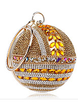 Women Bags All Seasons Polyester Evening Bag Buttons Crystal Detailing for Casual Gold