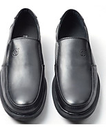 Men's Shoes Cowhide Fall Comfort Loafers & Slip-Ons For Casual Black