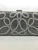 Women Bags All Seasons Metal Evening Bag Crystal Detailing for Event/Party Silver Black Gold