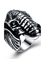 cheap -Men's Statement Ring , Silver Stainless Steel Animals Cartoon Fashion Ceremony Club Costume Jewelry