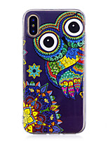 "economico -Custodia Per Apple iPhone X iPhone 8 Plus Fosforescente IMD Fantasia/disegno Per retro Fantasia ""Gufo"" Morbido TPU per iPhone X iPhone 8"