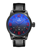 Men's Sport Watch Fashion Watch Japanese Quartz Calendar Water Resistant / Water Proof Genuine Leather Band Casual Black