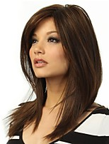 Women Synthetic Wig Capless Long Natural Wave Brown Highlighted/Balayage Hair Layered Haircut Natural Wigs Costume Wig