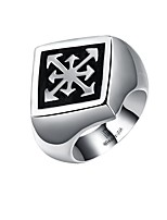 Men's Knuckle Ring Jewelry Punk Personalized Stainless Steel Alloy Geometric Jewelry For Halloween Street