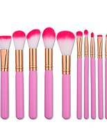 1set Makeup Brush Set Nylon Normal Anti-Friction Wood Face