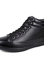 Hombre Zapatos Cuero real Cuero de Napa Cuero Invierno Botas de nieve Botas de Moda Botas hasta el Tobillo Zapatos De Buceo Forro de