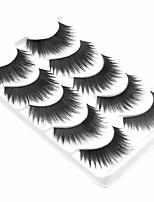 5 Ресницы Ресницы Ленточные накладные ресницы Натуральная длина Ручная работа Волокно Black Band