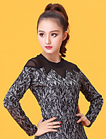 Latin Dance Tops Women's Performance Lace Lace Long Sleeve Tops