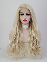 Women Synthetic Wig Lace Front Long Body Wave Light Blonde Natural Hairline Natural Wigs Costume Wig