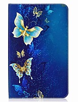 Butterfly Pattern Card Holder Wallet with Stand Flip Magnetic PU Leather Case for Samsung GALAXY Tab E 9.6 T560 T561 9.6 inch Tablet PC